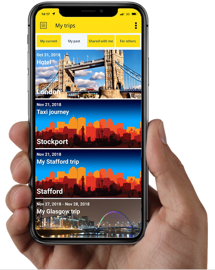 Clarity Go2Mobile App - Business Travel Itineraries